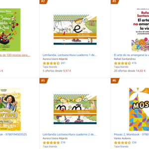 Los libros más vendidos en Amazon – Septiembre