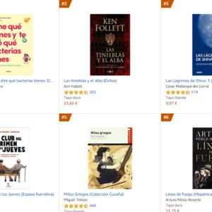Los libros más vendidos en Amazon – Octubre